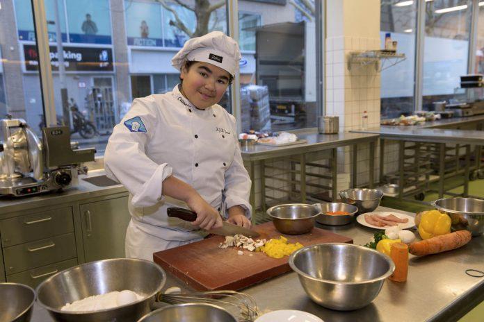 Kick, leerling culinaire vakschool Hubertus & Berkhoff ©Erik veld