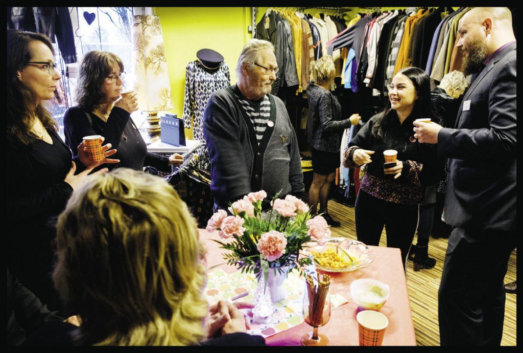 De feestelijke opening van kledingwinkel Mooi Mens, eind 2019 | © Sake Rijpkema